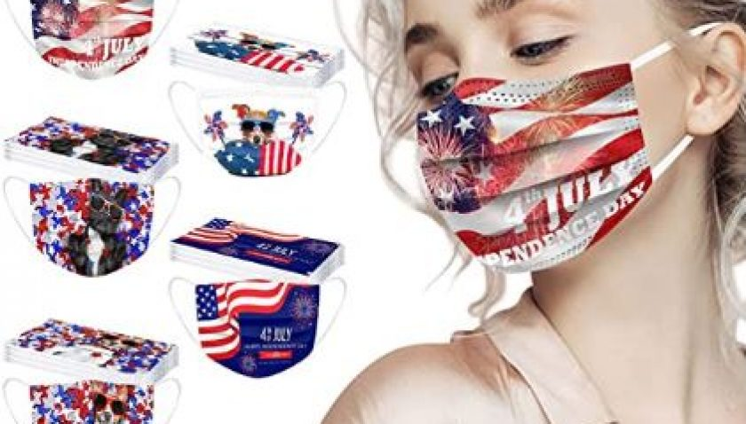 50% Discount for 50 Pack Independence Day Face_Masks