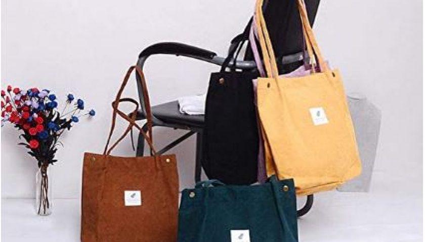 50% Discount for Corduroy Totes Bag - WantGor Women's Shoulder Handbags Big